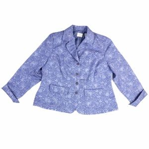Emma James Paisley Print Brocade Purple Blazer